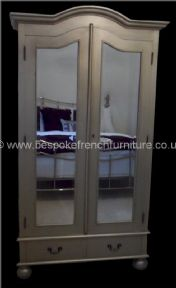 A Sandrine French Mirrored Wardrobe in your choice of colour